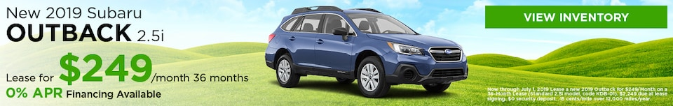 New 2019 Subaru Outback