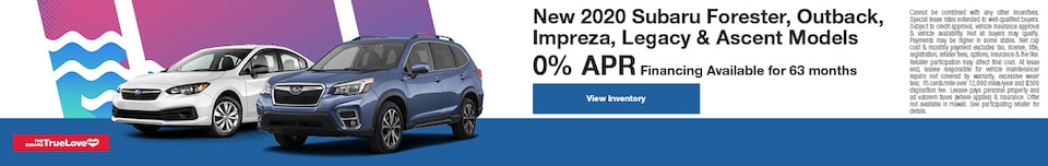 New 2020 Subaru Forester, Outback, Impreza, Legacy & Ascent Models
