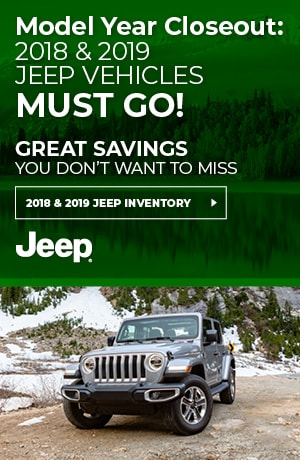 Remaining 2018 & 2018 Jeep Vehicles Must Go