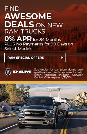 April Deals on Ram Trucks