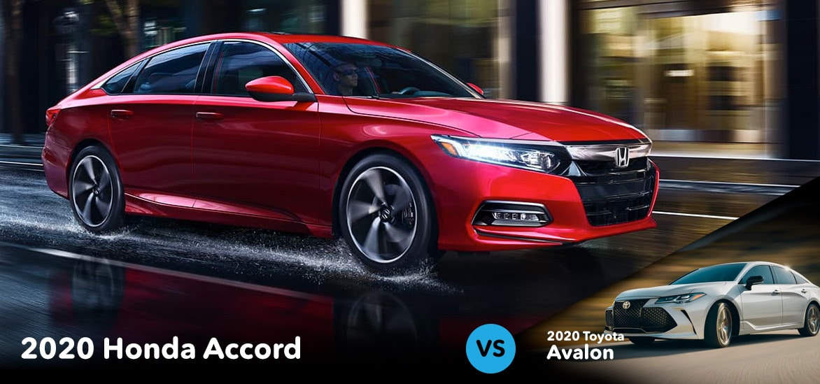 Honda Accord vs Totota Avalon