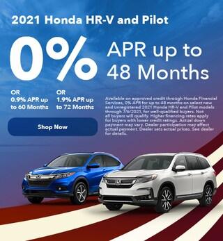 2021 Honda HR-V and Pilot