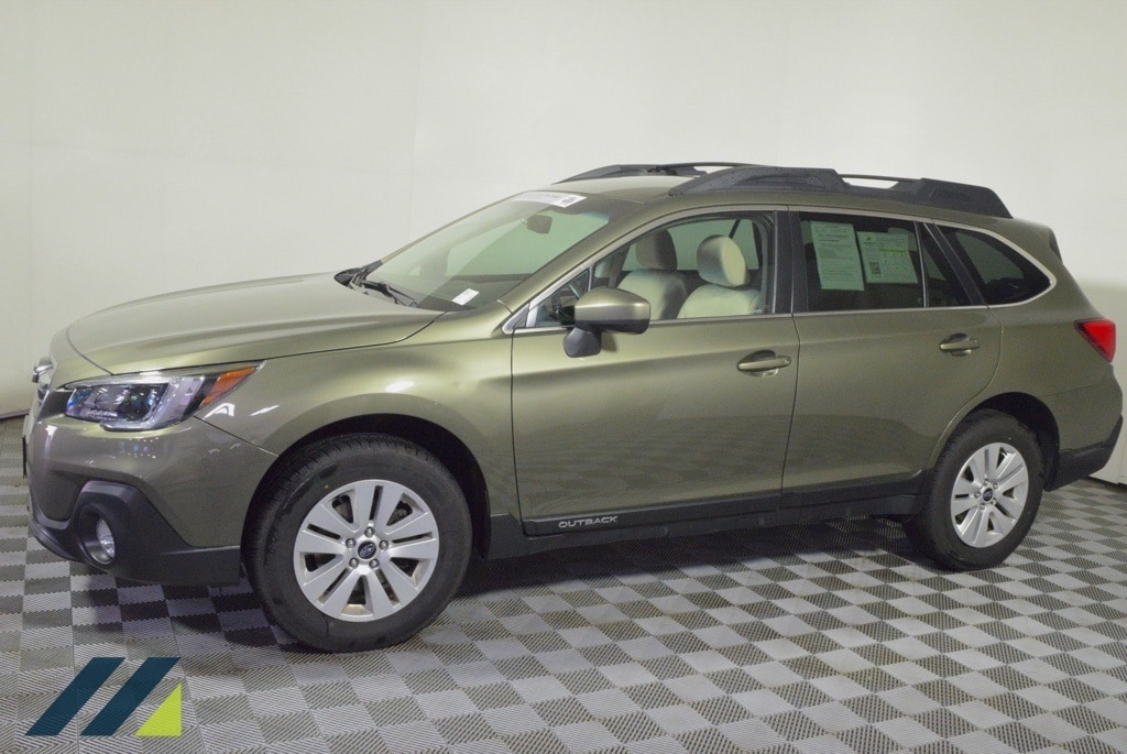 Certified 2018 Subaru Outback Premium with VIN 4S4BSACC8J3373880 for sale in Brooklyn Park, Minnesota