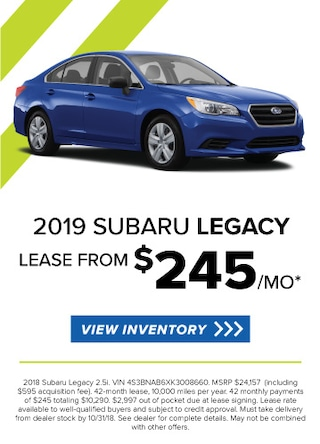 Lease a new 2019 Legacy for $235/Month