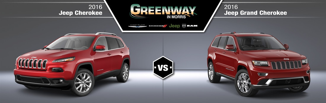 Wondering about the differences between the Jeep Cherokee and the Jeep Grand Cherokee? Greenway CDJR has the answers!