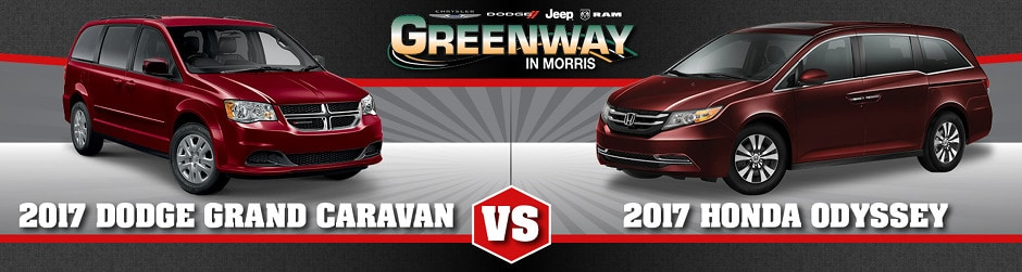 2017 Dodge Grand Caravan vs. Honda Odyssey in Joliet, IL