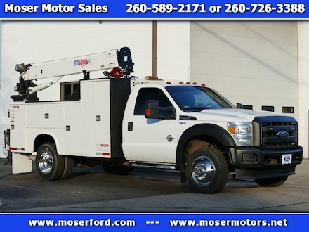 2016 Ford F-550 Diesel Service Utility Vehicle With Crane and Comp