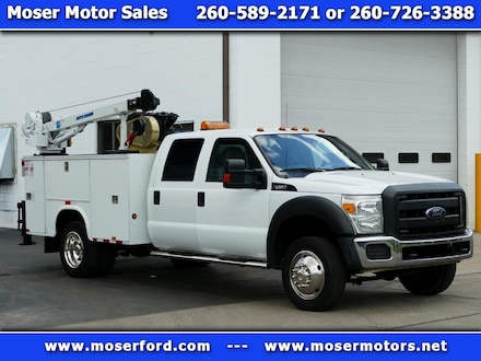 2013 Ford F-450 SD 4x4 Service Truck With Crane and Miller