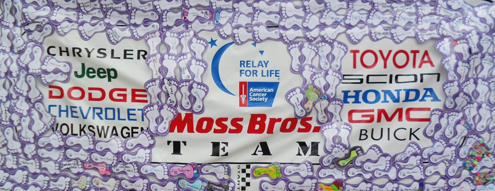 Moss Bros. Relay for Life Banner