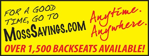 Moss Bros. 'Backseats' Campaign Billboard