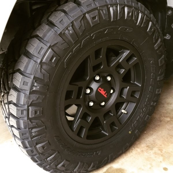 Nitto P265/70R17 tires on a TRD Rim