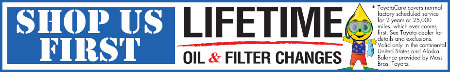 Shop Us First and Get Lifetime Oil & Filter Changes, whether you buy or not.* See Dealer for Details.