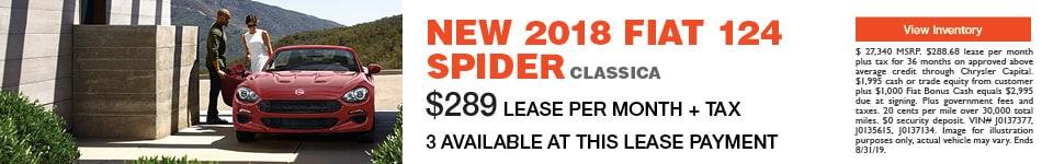 2018 Fiat 124 Spider-Lease
