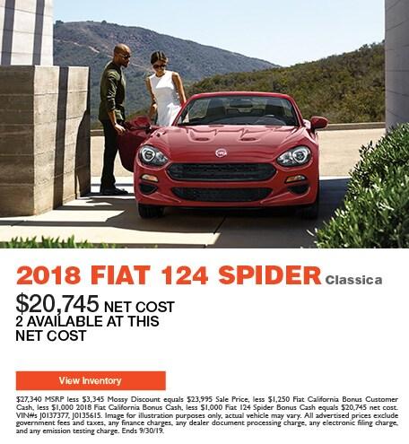 2018 Fiat 124 Spider Classica - Offer
