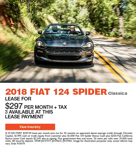 2018 Fiat 124 Spider Classica - Lease