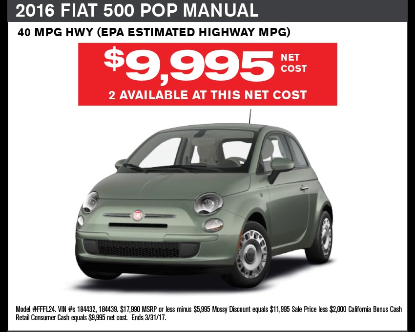 Fiat 500e Lease Deals San Diego Passion Coupons