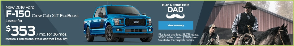 New 2019 Ford F-150 Crew Cab XLT EcoBoost