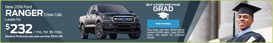 New 2019 Ford Ranger Crew Cab