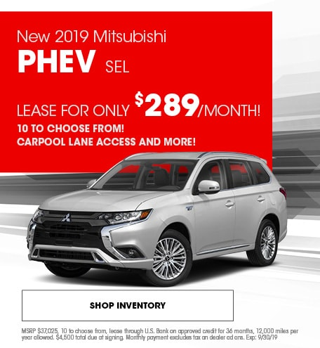 New 2019 Mitsubishi PHEV SEL