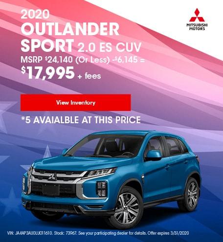 2020 Outlander Sport 2.0 ES CUV