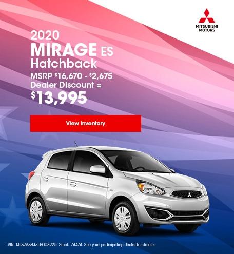 2020 Mirage ES Hatchback