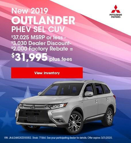 New 2019 Outlander PHEV SEL CUV