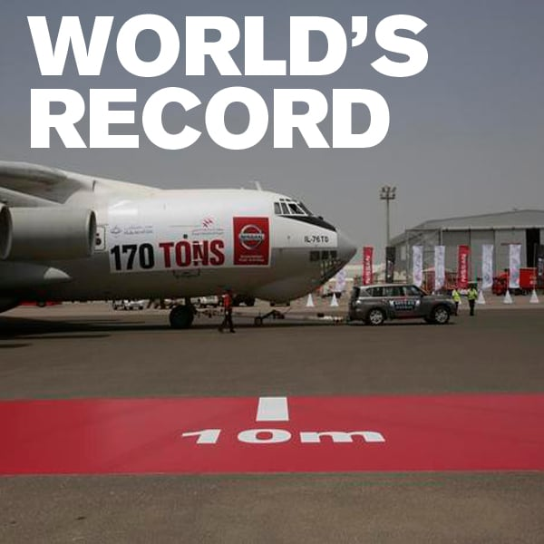 """Mossy Nissan Chula Vista >> Nissan shatters the world record for """"Heaviest Aircraft Pulled by a Production Vehicle""""! - Mossy ..."""