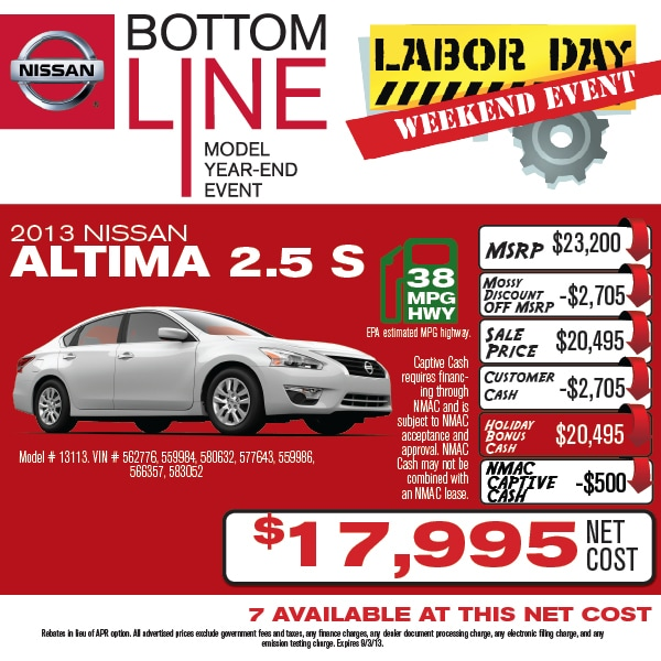 Mossy Nissan Escondido >> Don't miss our Bottom Line Sales Event all Labor Day ...