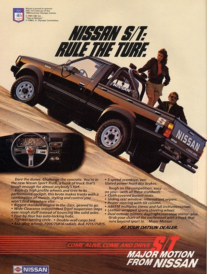 Throwback Thursday Check Out This Classic Nissan Truck Ad