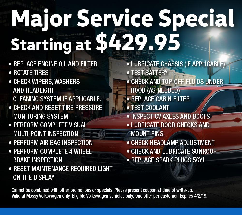 Volkswagen Service Specials | Mossy Volkswagen Escondido
