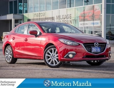 2016 Mazda Mazda3 GT TECH PKG CPO Leather Roof Navi Sedan