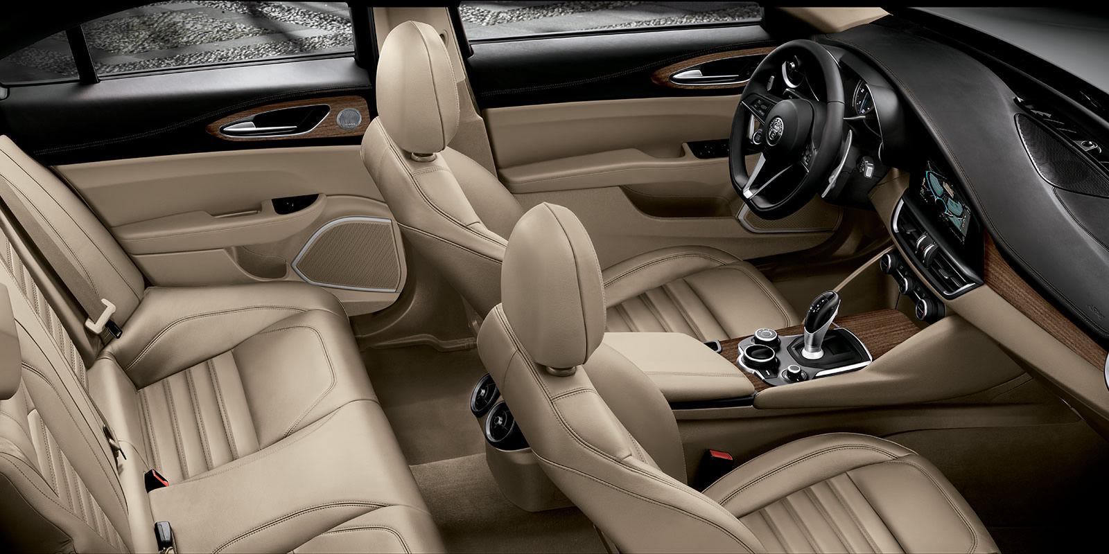 2017 Alfa Romeo Giulia Ti Leather Luxury Interior