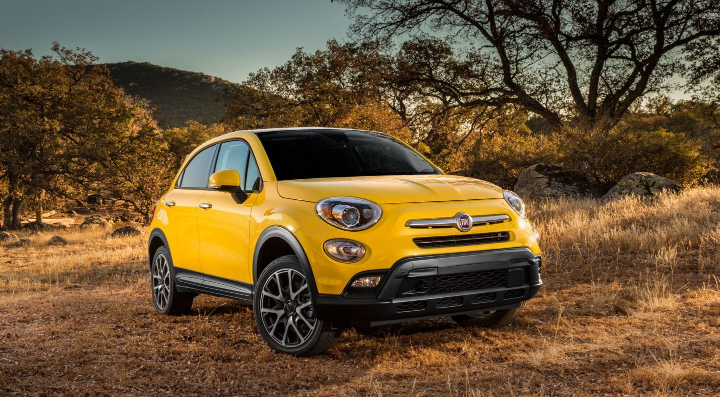 2017 FIAT 500X Yellow Front Exterior