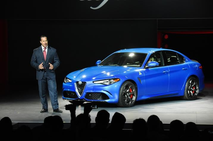 2017 Alfa Romeo Giulia Quadrifoglio Blue Exterior