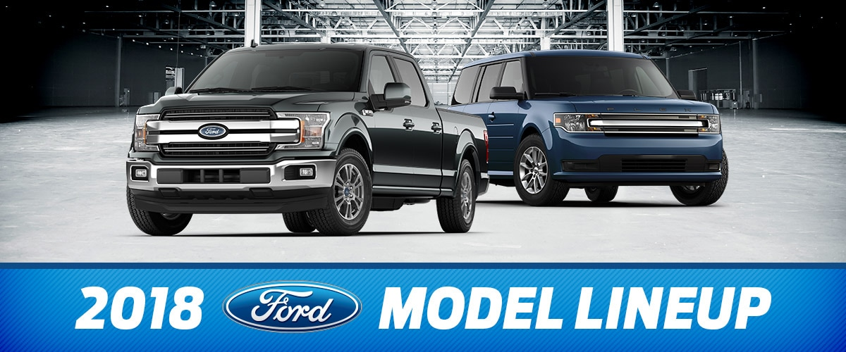 2018 Ford Model lineup