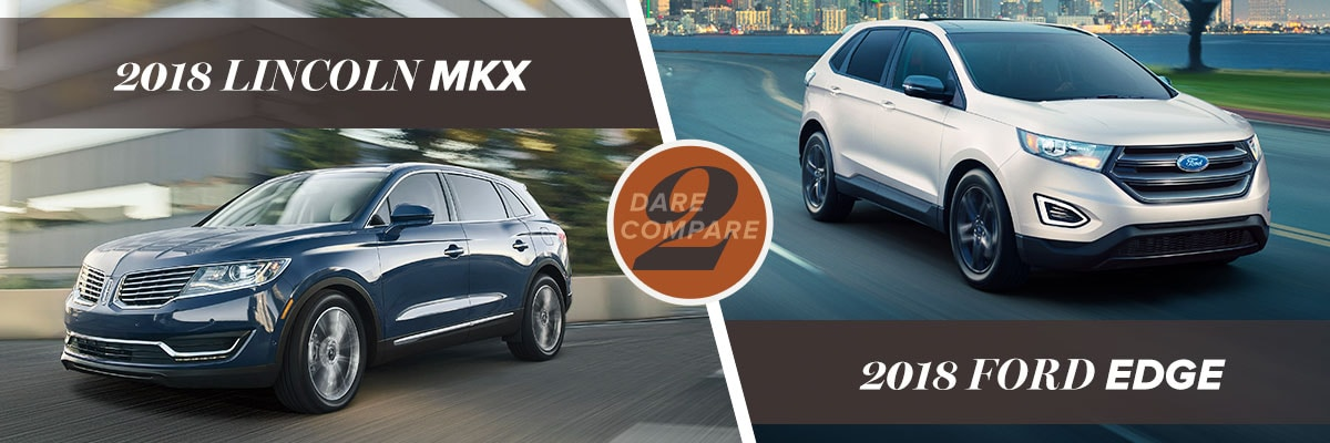 Lincoln Mkx Vs  Ford Edge