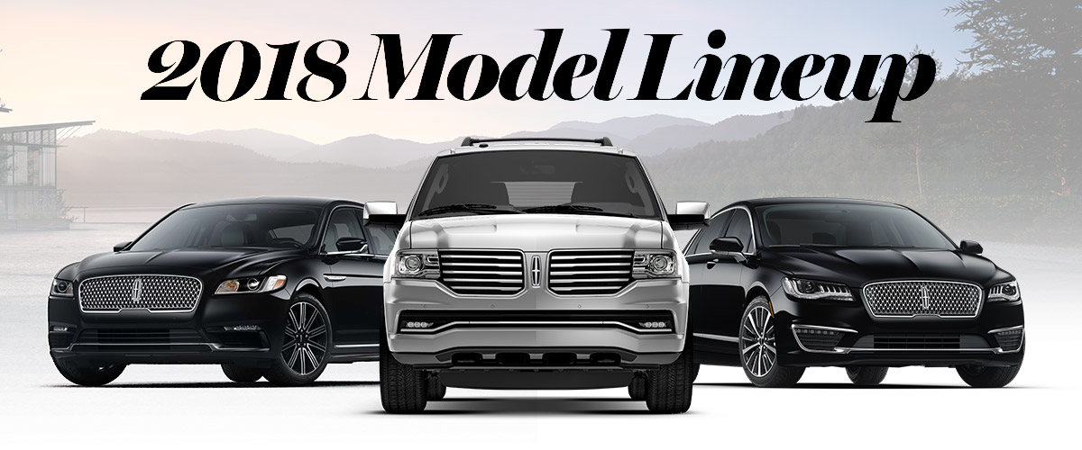 2018 Lincoln Model Lineup