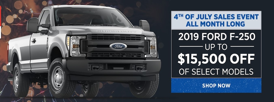 4th of July Sales Event All Month Long