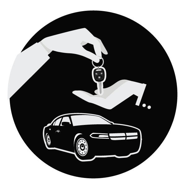 Vehicle delivery icon