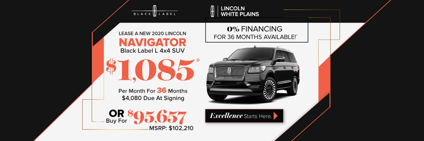 Lincoln Navigator lease deal image