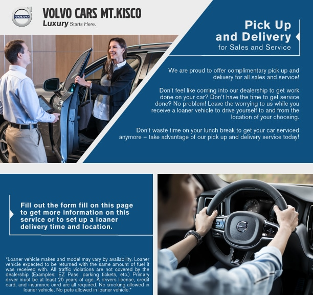 Car Pick Up Service >> Pick Up And Delivery Volvo Cars Mt Kisco
