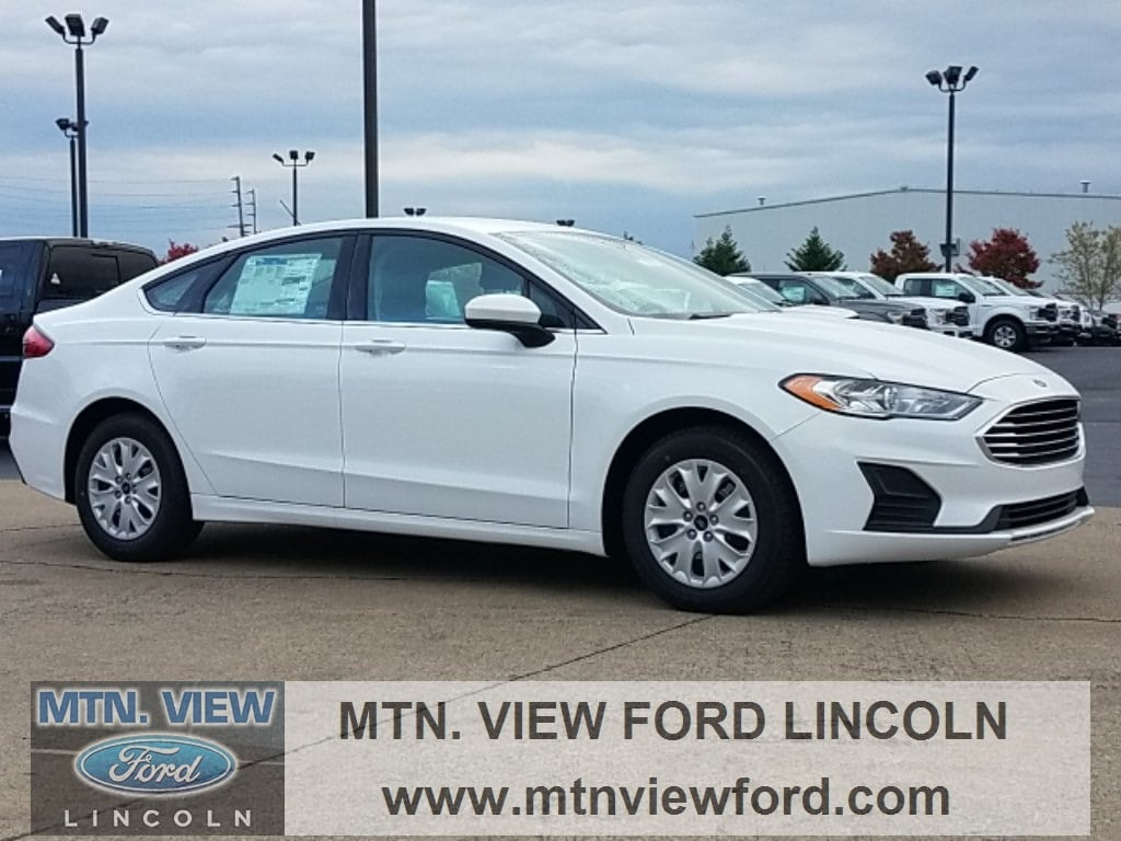 2019 ford fusion s oxford white fwd