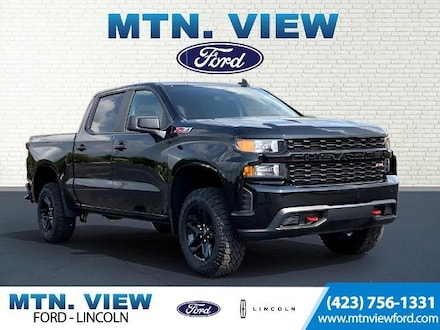 Featured Used 2021 Chevrolet Silverado 1500 Custom Trail Boss Truck  Crew Cab for Sale in Chattanooga, TN
