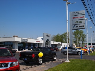 View of Mullane Motors as seen heading north on Transit Rd