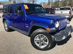 Used Cars  2018 Jeep Wrangler Unlimited Sahara 4x4 SUV For Sale in Southold