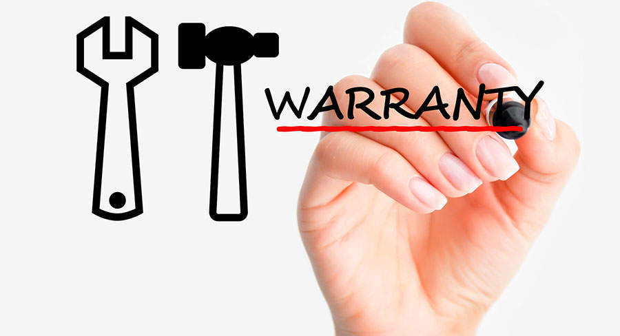 What is covered by the manufacturer warranty of a vehicle?