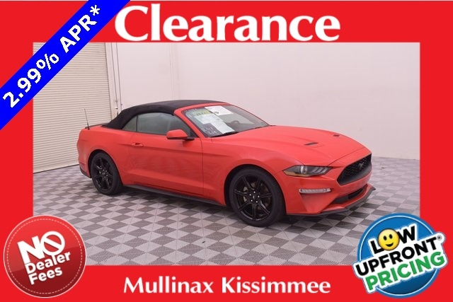 2018 Ford Mustang Ecoboost Premium W/ Black Accent Package Convertible 124198M