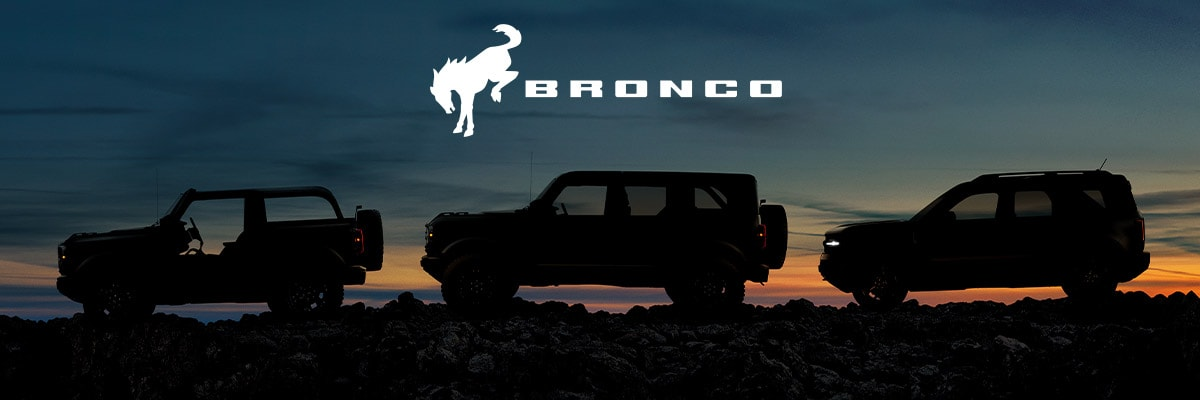 Ford Broncos on a terrain