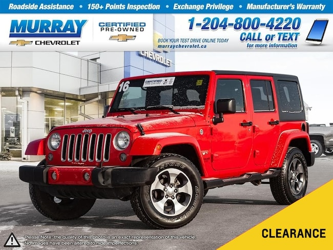 2016 Jeep Wrangler Unlimited Sahara *Heated Seats, Satellite Radio, Low Km's* SUV
