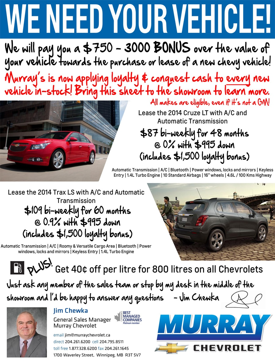 GM Loyalty Bonus- Save up to $3000 Extra Off Select New GM